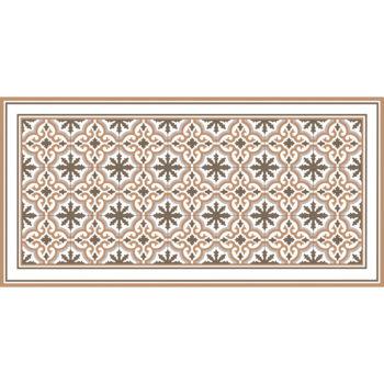Alfombra vinílica Rabat Brown 97 x 48 cm