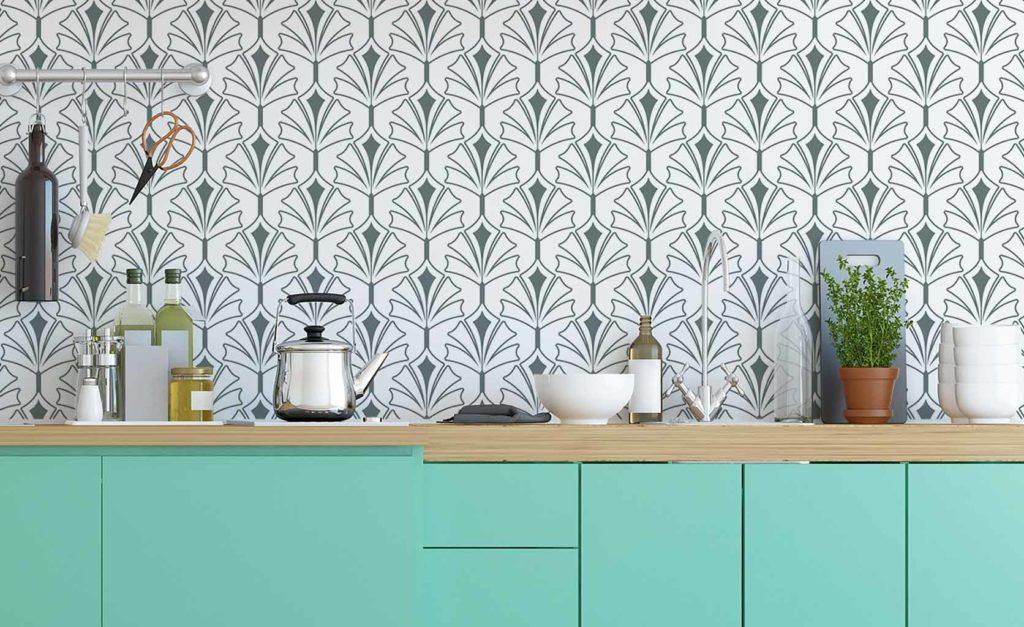 reformar cocina frontal  vinilo decorativo