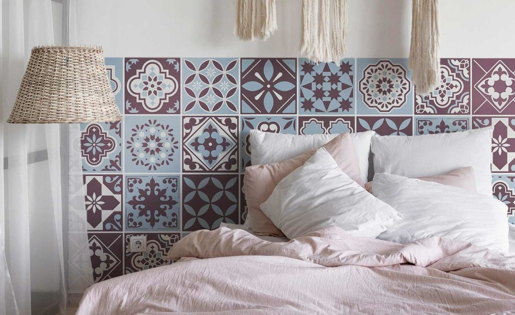 vinilo decorativo cabecero de cama