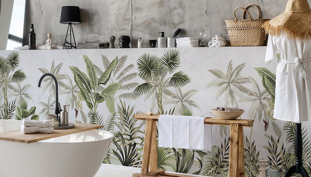 vinilos decorativos paredes baño