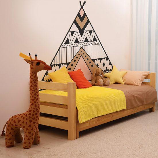 Habitación infantil cabecero de cama Tippy marrón