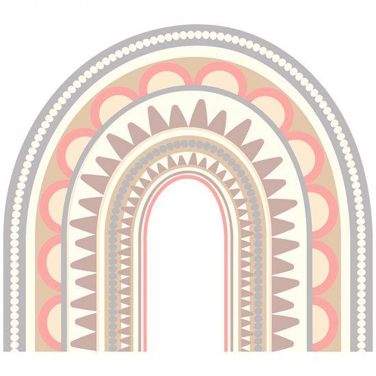 Cabecero de cama infantil arcoiris mandala 90 x 80 cm
