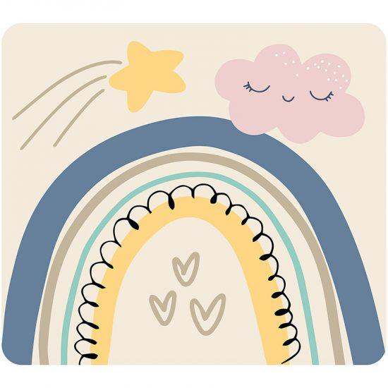 Cabecero de cama infantil arcoiris love 90 x 80 cm