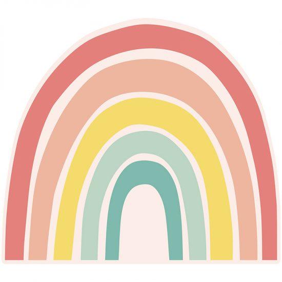 Cabecero de cama infantil arcoiris 90 x 80 cm