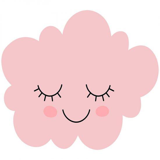 Cabecero de cama infantil nube rosa 90 x 80 cm
