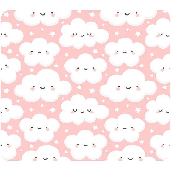 Cabecero de cama infantil nubelandia rosa 90 x 80 cm