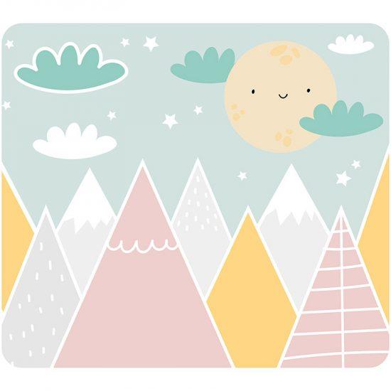 Cabecero de cama infantil Happy mountains 104 x 94 cm