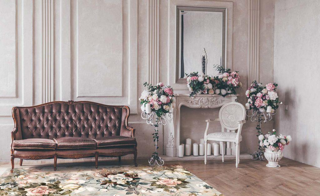 alfombra vinílica floral